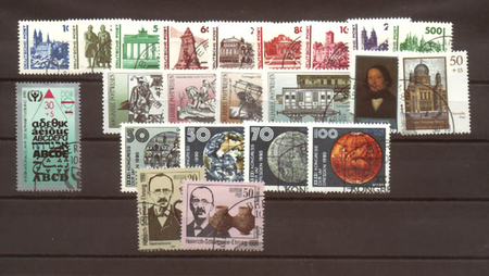 East Germany stamp issues of the year 1990 01.07.-02.10. used