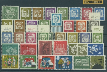 FRG Federal Republic of Germany - Stamps of the year 1961 mint